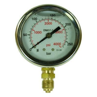 "Manometer 0-25 Bar D=63 mm 1/4""AG"