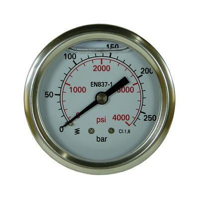 "Manometer 0-250 bar D=63 mm 1/4""AG"