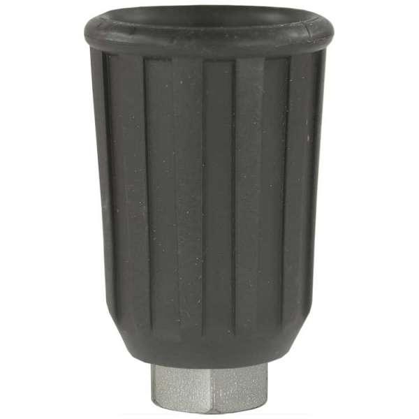 Düsenmuffe 1/4 verz. mit Schutz schwarz