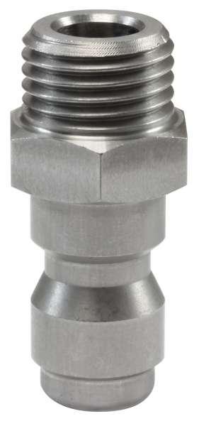Nippel ST-245 1/4AG 33,5mm Edelstahl