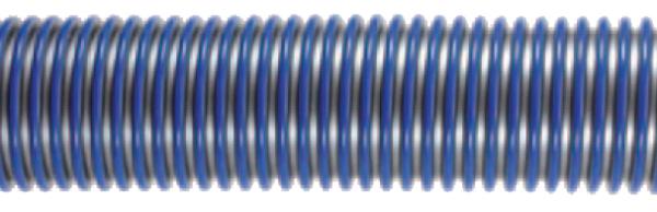 Staubsaugerschlauch EVA DN50 silber/blau Meterware