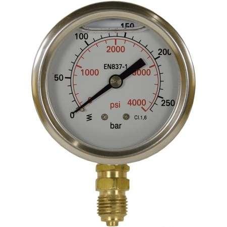 "Manometer 0-600 bar D=63 mm 1/4""AG"