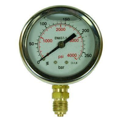 "Manometer 0-160 bar D=63 mm 1/4""AG"